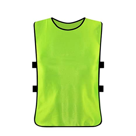 4529514ac Amazon.com   VORCOOL 6pcs Football Vest Adult Soccer Pinnies Breathable Training  Jersey Team Quickly-Dry Practice Vests   Sports   Outdoors