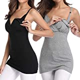 Nursing Tank Tops Breastfeeding Maternity Clothing Sleep Pregnancy Shirts Cami(S)