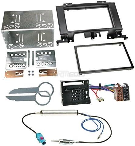 Vw Crafter 06 Original Plug Play Quality 2 Din Car Radio Installation Set Includes Aerial Adaptor Radio Connection Cable And Radio Fascia Frame Black Navigation Car Hifi