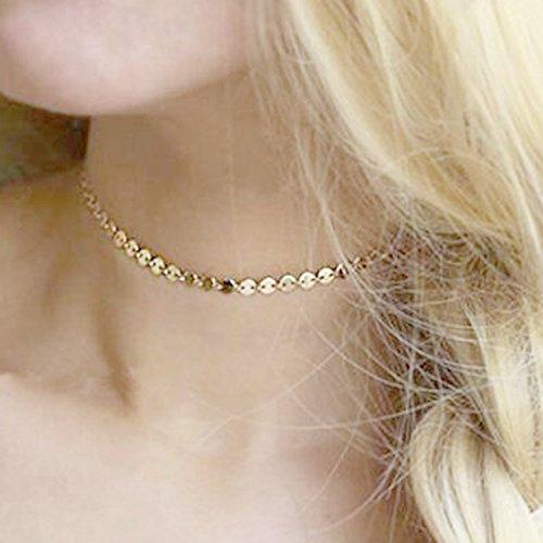 Bridalvenus Choker Necklace Sequin Vintage