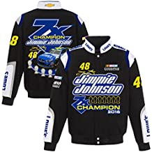 Jimmie Johnson Lowe's 2016 Nascar Sprint Cup 7-Time Champion Twill Jacket by JH Design