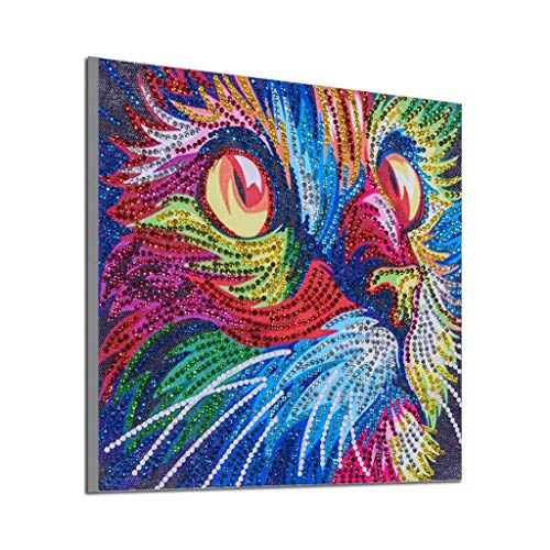 5D Diamond Painting Kits for Adults and Kids - Adorable Cat Design - Relax and Paint with Diamonds - Art Tool Kit Includes All Accessories