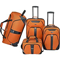 U.S. Traveler 4-Pc Luggage Set (Burnt Orange)