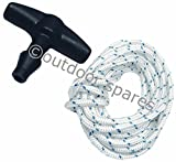 Petrol Lawn Mower Starter Handle With 2m Of Starter Cord Suit Suffolk, Qualcast