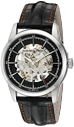 Hamilton Men's 'Timeless Classic' Swiss Automatic Stainless Steel and Leather Dress Watch, Color:Black (Model: H40655731)