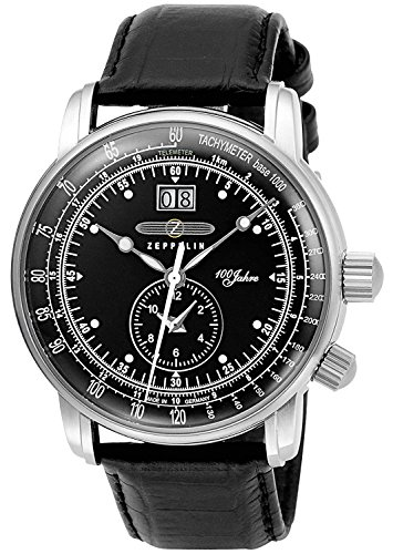 ZEPPELIN watch 100 anniversary model black dial 7640-2 Men's parallel import goods]