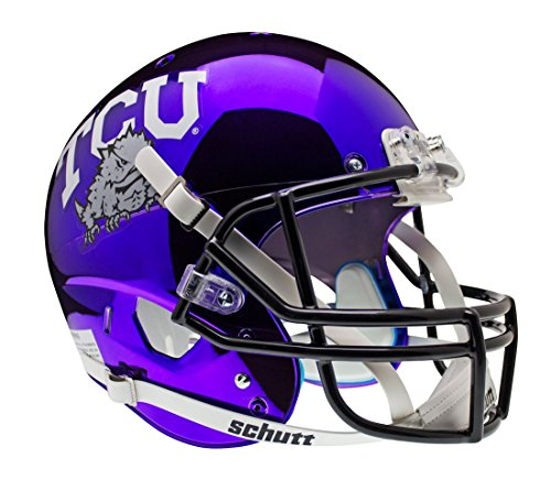 NCAA TCU Horned Frogs Replica XP Helmet - Alternate 5 (Chrome Purple) by Schutt