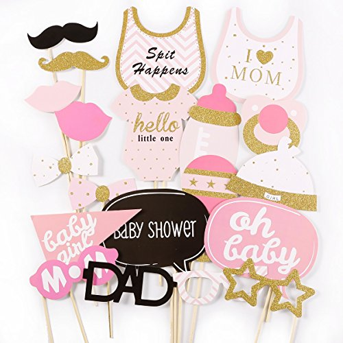 Anladia Photo Booth Prop Baby Shower New Born Mister Party Marriage Propose Photography Baby Girl Shower - For Glasses Photo Booth Template