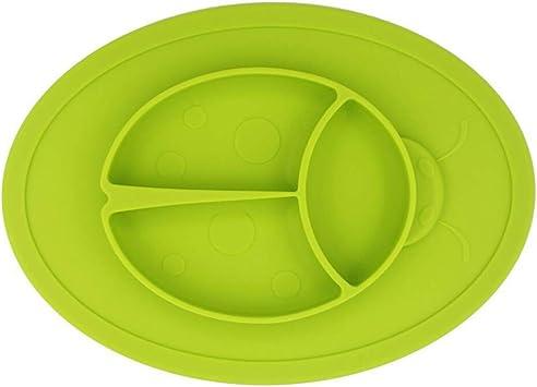 Tisch Set Platzset Tischunterlage Baby rutschfest Silikon Untersetzer s/ü/ße Tiere Tischset gelb wasserdichtes Platzdeckchen f/ür Kinder 1 St/ück abwaschbar