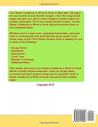 Blank cookbook to write in fill in the blank recipes frances p blank cookbook to write in fill in the blank recipes frances p robinson 9781501014543 amazon books solutioingenieria Choice Image