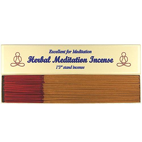 Herbal Meditation Incense - 1'3'' Stand Incense (Joss Stick) - 300g Large Pack - B132 by Bosen Incense