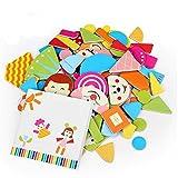 Little star 1Pack 90pcs x Fridge Magnet Mixed Cartoon Wooden Educational Toy