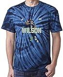 "The Silo TIE DIE NAVY Seattle Wilson ""AIR PIC"" T-Shirt"