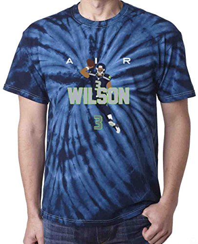 Shedd Shirts TIE DIE Navy Seattle Wilson AIR PIC T-Shirt Youth