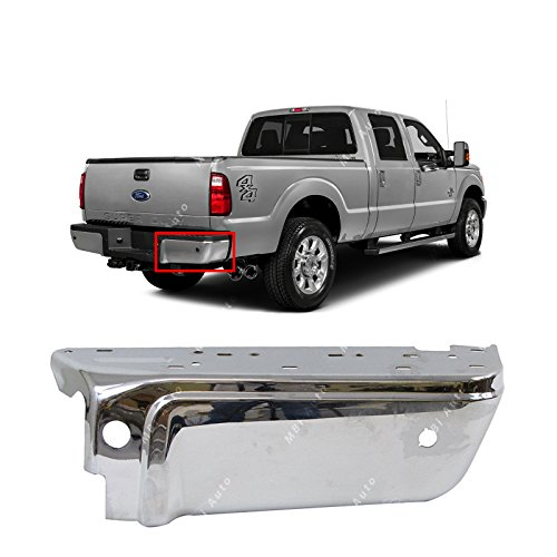 F-body Rear End (MBI AUTO - Chrome, Steel Rear Passenger's RIGHT Bumper End for 2008-2016 Ford F250 F350 W/ Park 08-16, FO1105121)