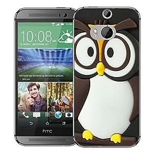 Caso móvil HTC Uno M8 aparea en carcasa bumper - tawney búhos y lápiz