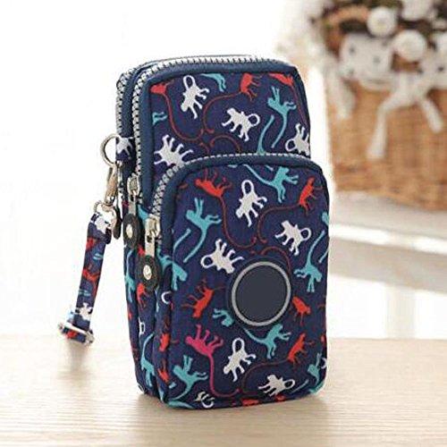 Holder Monkey Card (Cross-body Wallet Pouch Mobile Phone Single Shoulder Bag Coin Case Belt Handbag Purse Wallet Card Case Holder Multipurpose Wallet Case For Women (Blue Monkey))