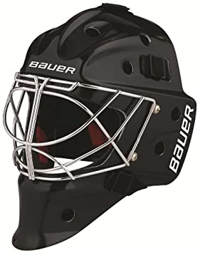 40132474a65 Bauer NME 7 Goalie Mask with large Cat-Eye Cage