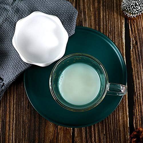 Cuchara y bandejas la Mejor vinagrera para su hogar Porcelana Juego de condimentos Cocina 7 Juegos con Tapa WPY Recipiente para Especias de Porcelana Negra con Tapas