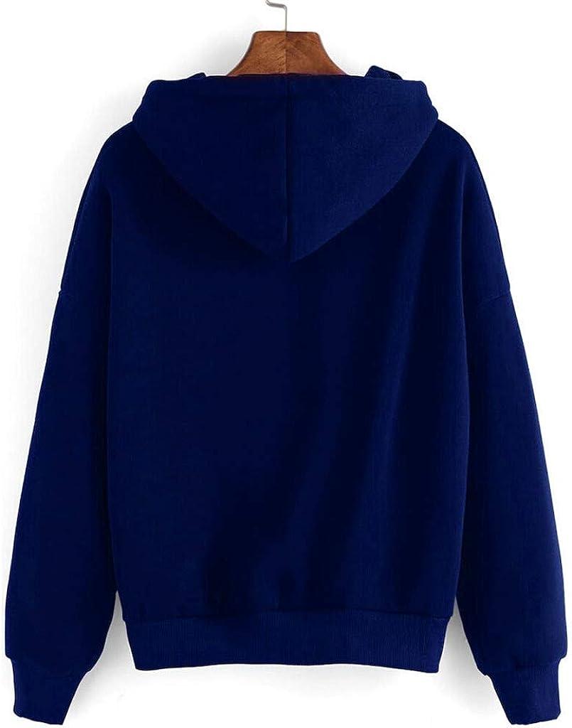 HTHJSCO Women Girls Hoodie Loose Sunflower Print Long Sleeve Pullover Tops Blouse Shirt Sweatshirt