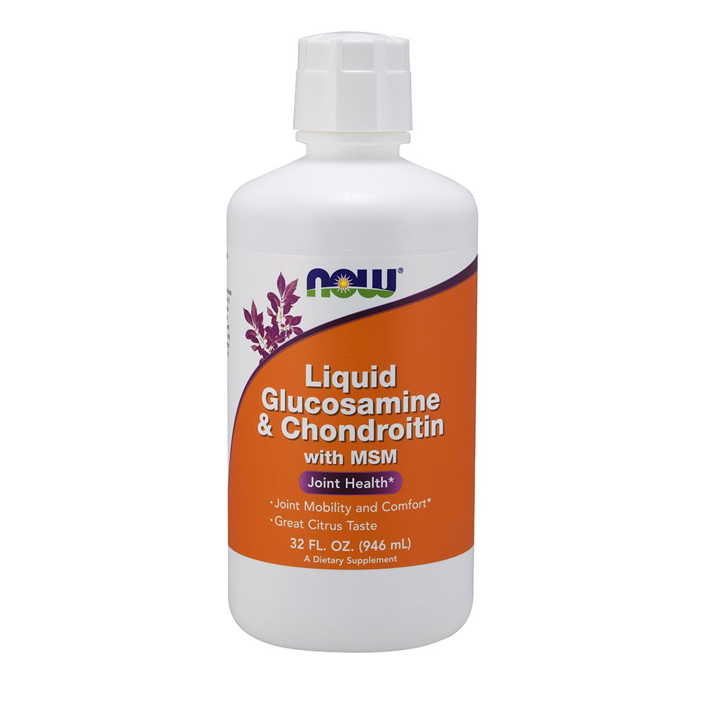 NOW Supplements, Glucosamine & Chondroitin with MSM, Citrus Flavor, Liquid 32-Ounce by NOW