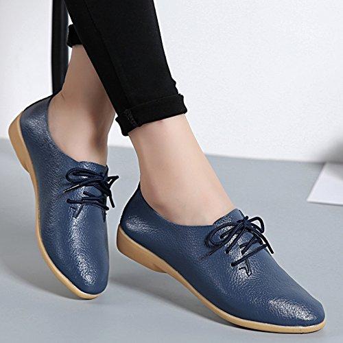 Shoes navy Flats Venuscelia Women's Oxford Classic Deep YI0zxSxqAw