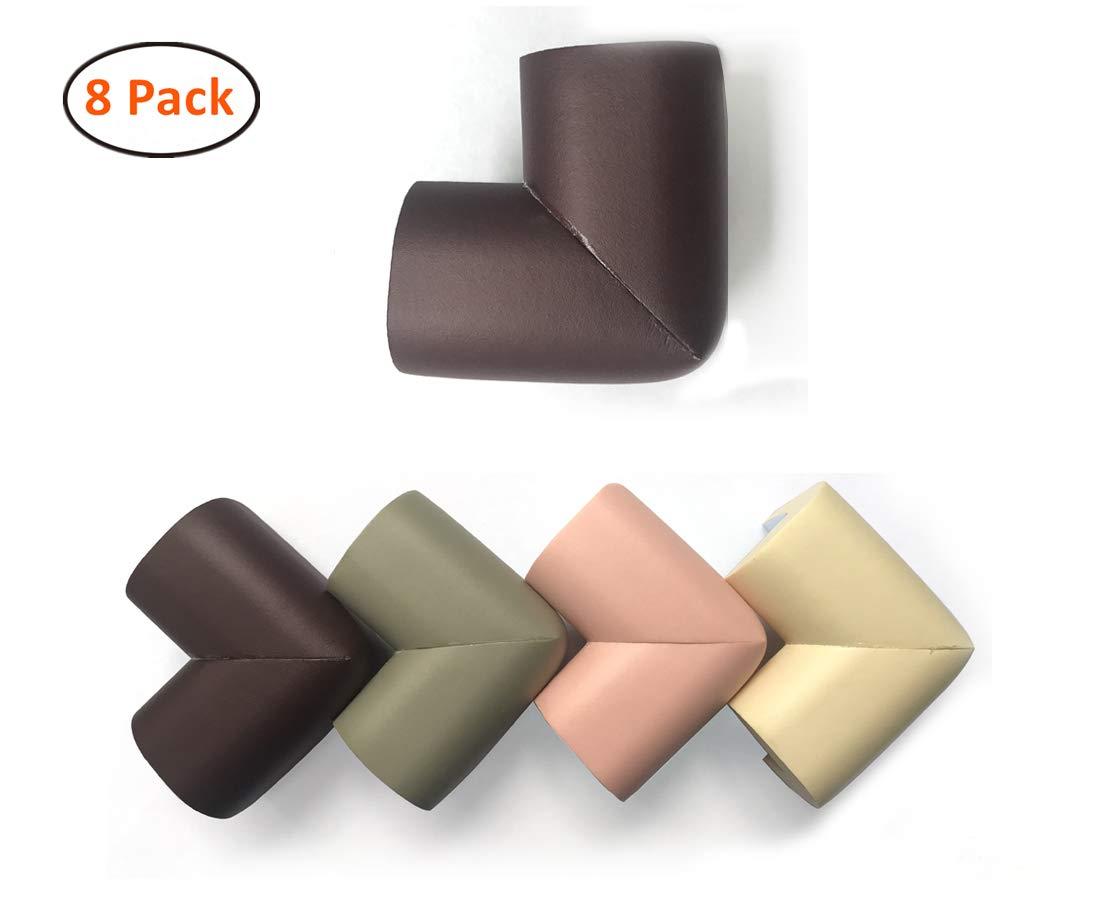 Corners Table Edge Guard, Jiechang Baby Toddler Cushion Protector, Edge & Corner Guard Set, Soft Non-Toxic and Environmentally Friendly 8Pcs (Gray)