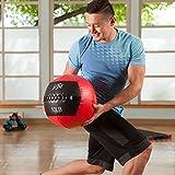 j/fit Medicine Ball, Red/Black, 25-Pound