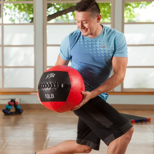 j/fit Medicine Ball, Red/Black, 20-Pound