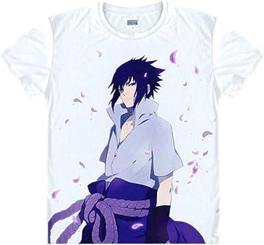 TSHIMEN Camisetas Hombre Esprit Naruto Ninjia Camiseta Anime Hombres Mujeres Regalo Moda Camiseta Camiseta Masculina Ropa Top Blanco: Amazon.es: Ropa y accesorios