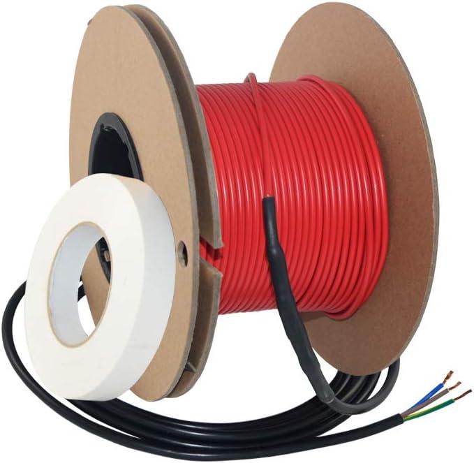37,5m Elektrische Fu/ßbodenheizung Heizkabel Extherm Twin 16Watt//m 600Watt gesamt f/ür 3-6m/² Heizfl/äche