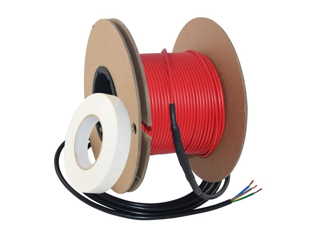 f/ür 2,5-5m/² Heizfl/äche 31,25m Elektrische Fu/ßbodenheizung Heizkabel Extherm Twin 16Watt//m 500Watt gesamt