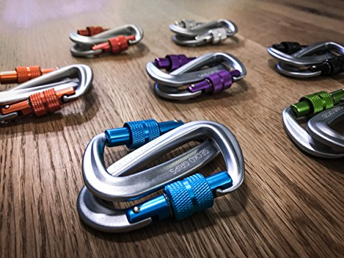 #1 Serac Ultra Strength Locking Carabiners x2 (up to 5KN, that's 1100 lbs of force!) Perfect for Serac Classic Single or Sequoia Double hammocks Made from Ultralight Aircraft Grade Aluminum
