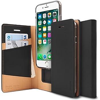 iPhone 7 Plus / iPhone 8 Plus Case, Ringke [SIGNATURE] Genuine Leather Case [3 ID / Card Slot] Handcrafted Premium Folio Multi Executive Travel Wallet Case for Apple iPhone 7 Plus - Black