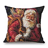 """1PC Sham Square 18"""" x 18"""" Woaills Christmas Printing Dyeing Pillow Cases Cushion Cover Sofa Bed Home Decor With Hidden Zipper (C)"""