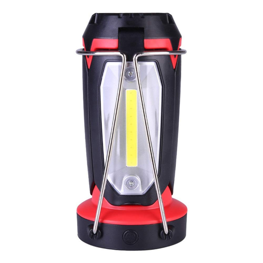 Cuiron Multi-Purpose Camping Light, Tent Portable Light USB Rechargeable Flashlight Table Lamp Three-in-one Outdoor Light (Color : Red)