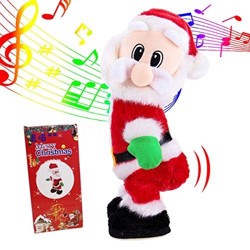 Phantomx Christmas Gift Electric Santa Claus Twisted Hip Twerking Singing Toy for Kids
