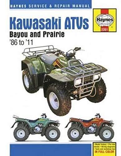 Kawasaki Bayou 220/300 & Prairie 300 ATVs, 86-11 (Haynes Service & Repair Manual) Haynes