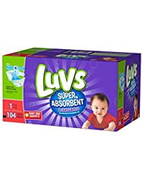 Luvs Super Absorbent Leakguards Newborn Diapers Size 1, 104 Count BOBEBE Online Baby Store From New York to Miami and Los Angeles