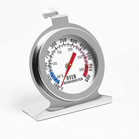 Termómetro de cocina para horno, termómetro para nevera, termómetro para horno, acero inoxidable de 300 °C, horno de cocina de alta precisión para medir carne, barbacoa, parrilla, freidora: Amazon.es: Grandes electrodomésticos