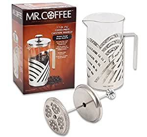 Mr. Coffee Stainless Steel French Press Coffee Maker - 34 Fl. Oz Capacity