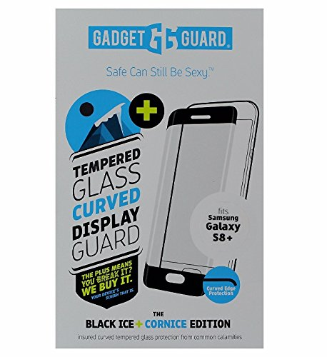 GADGET GUARD BLACK ICE PLUS CORNICE CURVED EDITION TEMPERED GLASS SCREEN GUARD FOR SAMSUNG GALAXY S8 PLUS