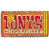 Tony's Chocolonely Caramel Sea Salt Milk Chocolate Bar, 6 oz., 4-Pack