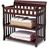 Dark Wood Crib with Changing Table Delta Children's Products Eclipse Changing Table - Dark Chocolate - Nursery Room - Nursery Furniture - 2 Fixed Shelves - Made of Solid Wood and Wood Composites - Non-toxic Finish - Meets Government ASTM Safety Standards