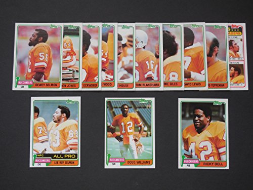 Tampa Bay Buccaneers 1981 Topps Football Combine Set (13 Cards) (NFC Central Division Champions) Ricky Bell, Tom Blanchard, Jerry Eckwood, Jimmie Giles, Kevin As a gift, Gordon Jones, David Lewis, Dewey Selmon, Lee Roy Selmon, Doug Williams, Richard Wood,