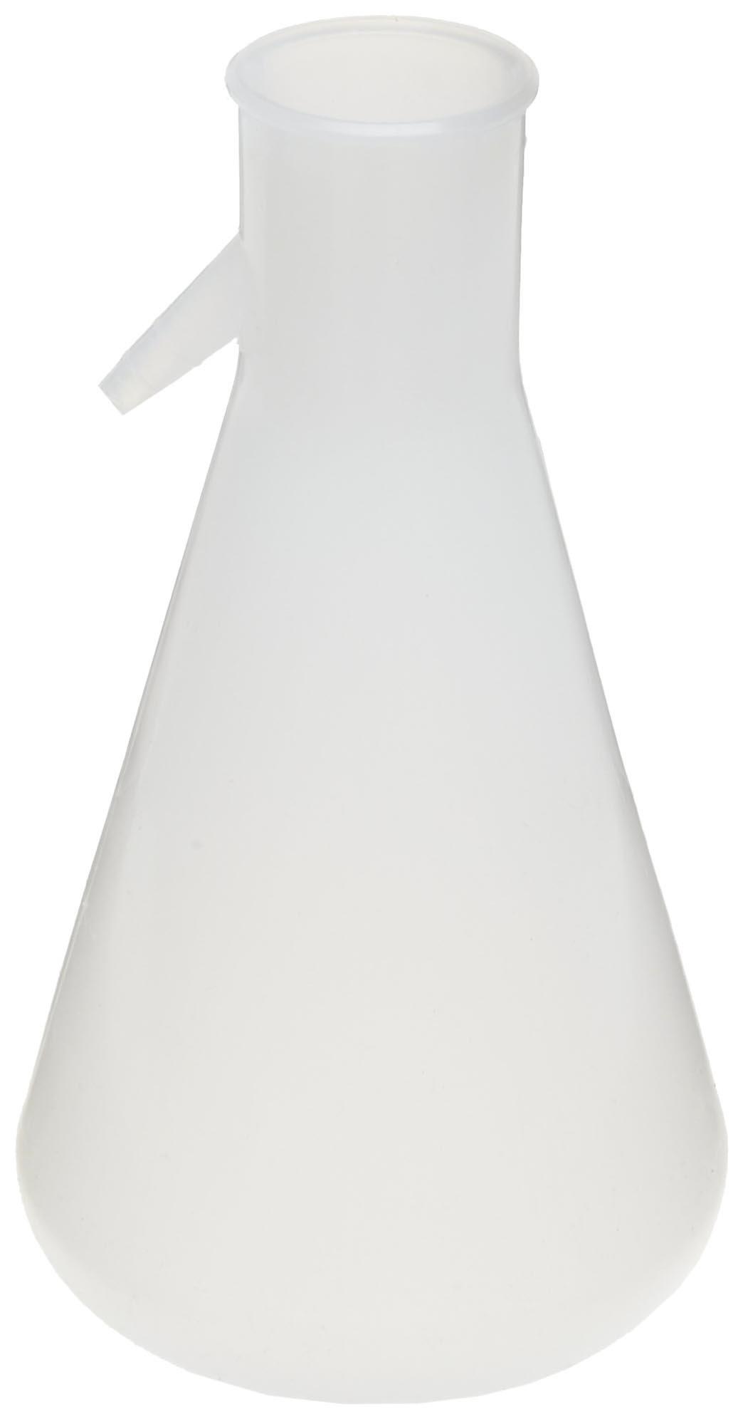 Nalgene DS4101-1000 Polypropylene 1000mL Filtering Flask with Angled Tubulation