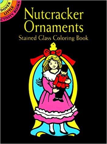 nutcracker ornaments stained glass coloring book dover little activity books