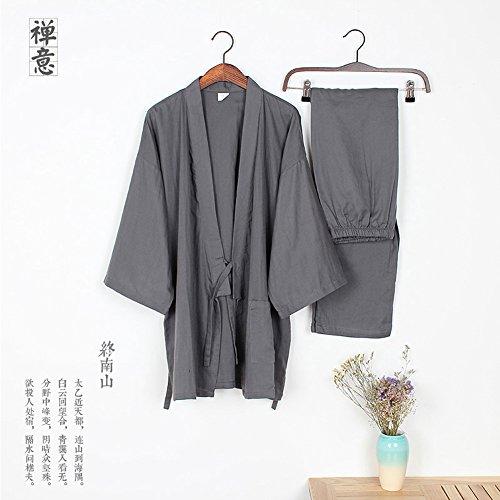 Da Abbigliamento Al Robe Uomo Robes Vapore Grigio Pigiama Khan Yukata Kimono Di p7Hqx1
