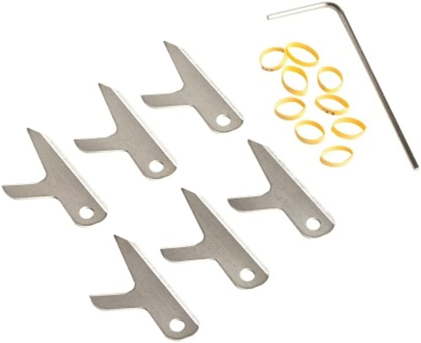 Swhacker 100 Grain 1.75-Inch Replacement Blades Large Set of 6 Silver