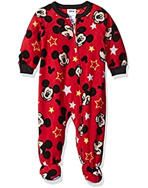 Disney Baby Boys' Mickey Mouse Fleece Footed Blanket Sleeper